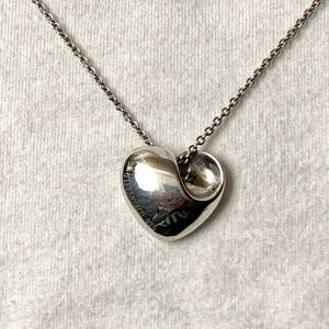 Discontinued Tiffany Silver Heart Necklace